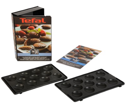 Tefal plaques 2 mini bouch es snack coll xa801212 - Plaque tefal snack collection ...