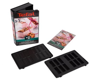tefal coffret 2 plaques mini lingots snack collection xa801312. Black Bedroom Furniture Sets. Home Design Ideas