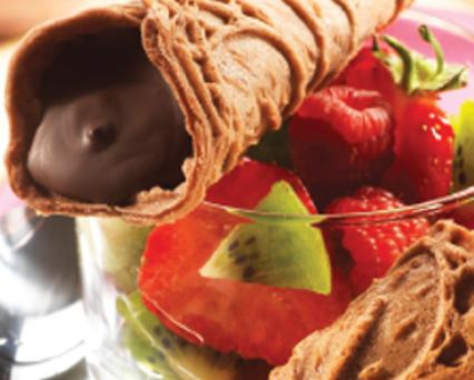 Bricelets bernois au chocolat