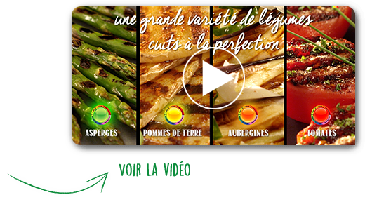 A large variety of vegetables grilled at their optimal temperature level | Voir la vidéo