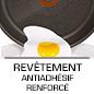 Longue revêtement antiadhésif durable