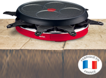 Raclette Crep Party Colormania Rouge - TEFAL